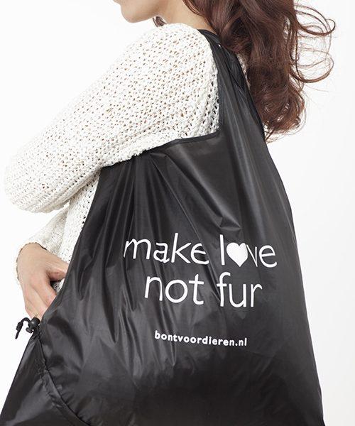 Tas Make Love Not Fur Bont voor Dieren